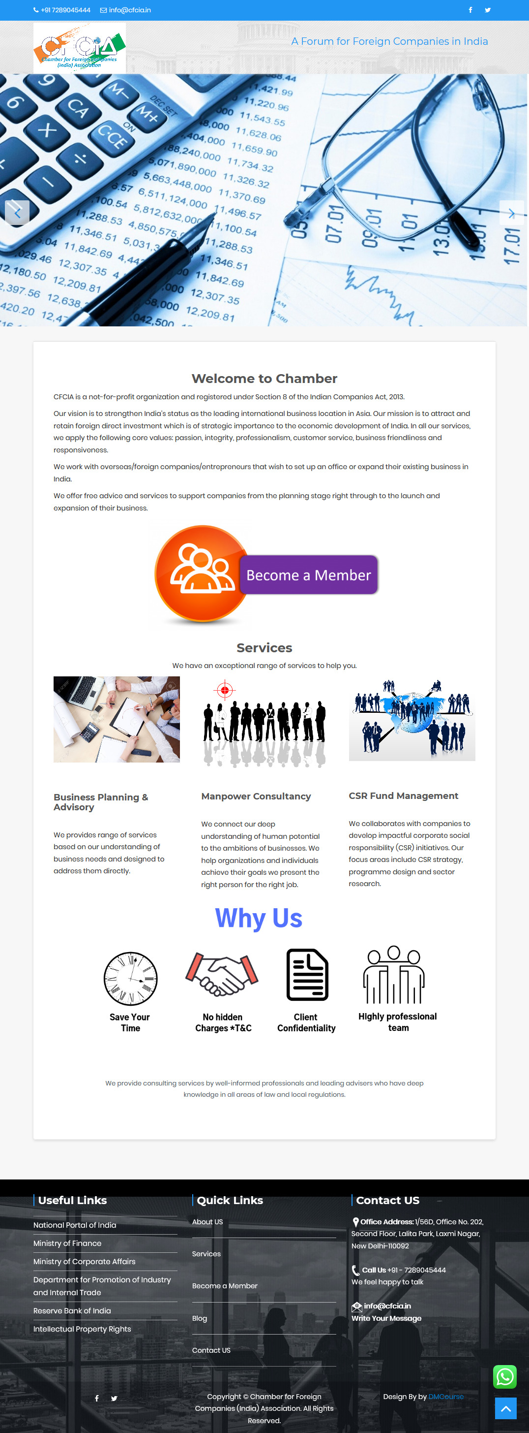 Professional Business Website https://cfcia.in