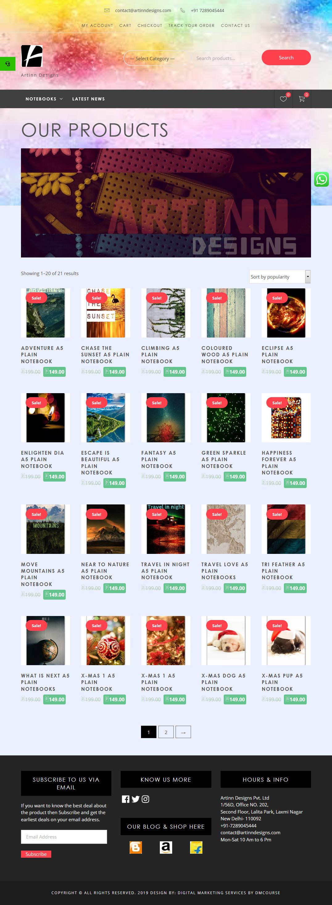 E-Commerce Website https://artinndesigns.com